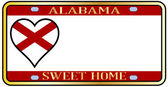 Alabama State License Plate — Stock Vector