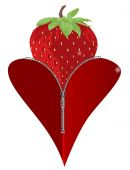 Love Strawberry — Stock Vector
