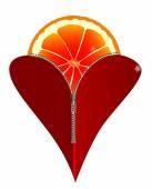 Love Fruit — Stock Vector