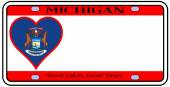 Michigan License Plate — Stock Vector