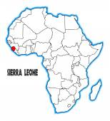Sierra leona — Vector de stock