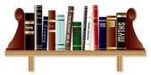Genre Book Shelf — Stock Vector
