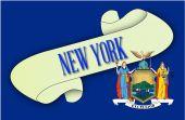 New York Scroll — Stock Vector