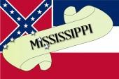 Mississippi kaydırma — Stok Vektör
