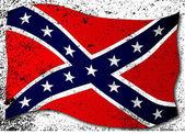Waving Confederate Flag — Stock Vector