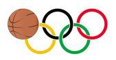 オリンピック バスケット ボール — ストックベクタ