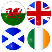 Buttons of the UK and Eire — Stock Vector