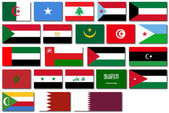 Flags of the Arab League — Wektor stockowy