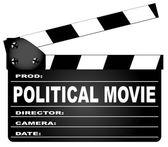 Political Movie Clapperboard — Stockvektor