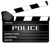 Police Clapperboard — Stock Vector