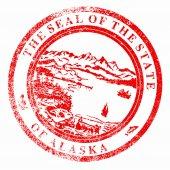 Alaska Seal Stamp — Cтоковый вектор