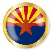 Arizona Flag Button — Wektor stockowy