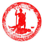 Virginia Seal Rubber Stamp — Vettoriale Stock