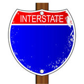 Interstate Sign — Stock Vector