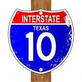 Texas Interstate Sign — Stock Vector