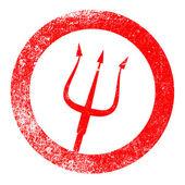 Devils Pitchfork — Stock Vector