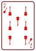 Cartão de jogo de guitarra elétrica — Vetor de Stock