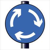 Kruhový objezd dopravní značka — Stock vektor