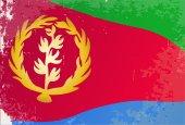 Grunge de drapeau de l'Érythrée — Vecteur