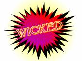 Cartoon Wicked — Stockvector