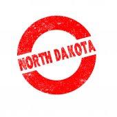 Rubber Ink Stamp North Dakota — Stock Vector