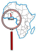 Togo Under A Magnifying Glass — Stock Vector