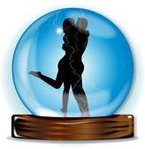 Love In The Crystal Ball — Stock Vector