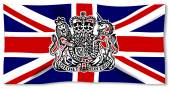 Union Jack With UK Seal — Stock Vector