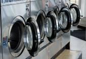 Line of laundry machine — Stockfoto