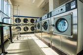 Line of laundry machine — Zdjęcie stockowe