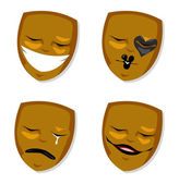 Theatre Mask — Stock Vector