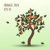Orange tree with fruits oranges — Stock Vector