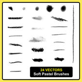 Soft pastel brushes — Stock Vector