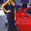 ������, ������: Young womens from Team Maserati Gran Turismo Red car Look Moscow International Automobile Salon