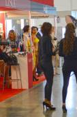 5th International Exhibition of underwear, beachwear, home wear and hosiery Lingrie Expo Traffic — Stock Photo