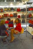Mos Shoes International specialized exhibition for footwear, bags and accessories The Bags — Stock Photo