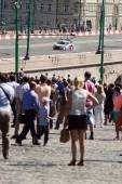 High speed  Moscow City Racing  Many viewers  July — Stock Photo