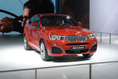 BMW X4 xDrive35i. Red color. Shine Moscow International Automobile Salon — Photo