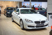 BMW Six series Gran Coupe. White color. Adrenalin Moscow International Automobile Salon Shine — Stock Photo