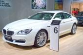 BMW Six series Gran Coupe. White color. Adrenalin Moscow International Automobile Salon Shine — Stock Photo