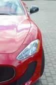 Red luxury sports car Desire — Stock Photo