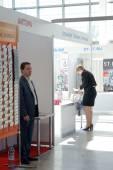 International Exhibition Logistics Moscow Autumn Traffic Visitors — Stockfoto