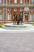 Monument to Russian architects Bazhenov and Kazakov  The Tsaritsyno — 图库照片