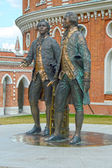 The Monument to Russian architects Bazhenov and Kazakov  The Tsaritsyno  Moscow  Heat — 图库照片