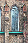 Lancet windows of the church  St Andrew s Anglican Church  Moscow — Stock Photo