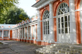 Housing service north (greenhouse), XVIII century. Architectural monument. Homesteads Vorontsovo. The central part of the palace and the North Wing — Stock Photo