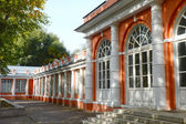 Housing service north (greenhouse), XVIII century. Architectural monument. Homesteads Vorontsovo. The central part of the palace and the North Wing Autumn Sunny day — Stock Photo