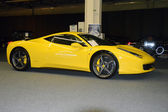 Lamborghini yellow color in the showroom — Stock Photo