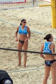 2015 Moscow Gland Slam Tournament Beach Volleyball athlete from the team of Italy 3rd place tournament — Stock Photo