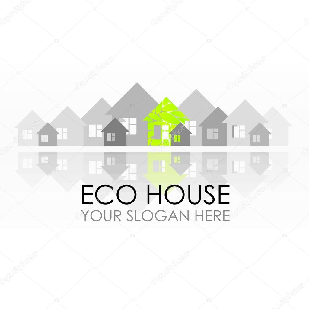 Dise o de logotipo de la casa de eco construcci n for Eco design per la casa
